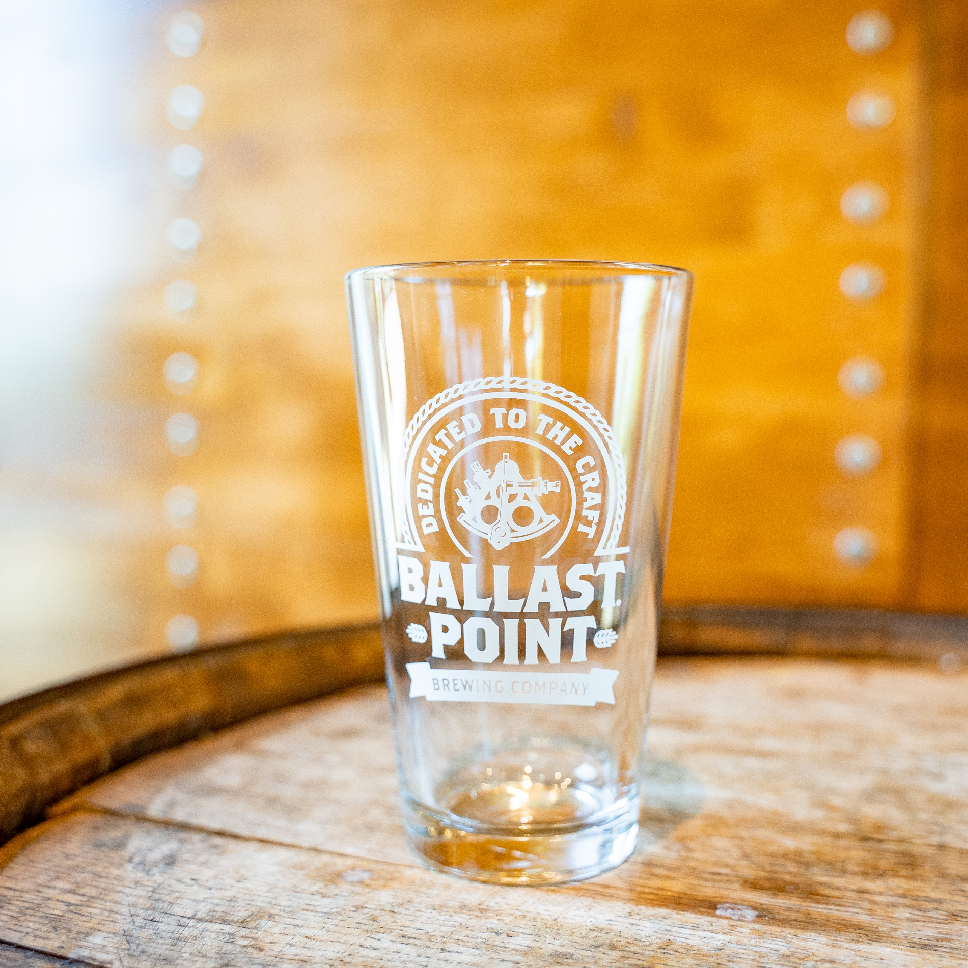 Ballast Point Logo Pint Glass THUMBNAIL