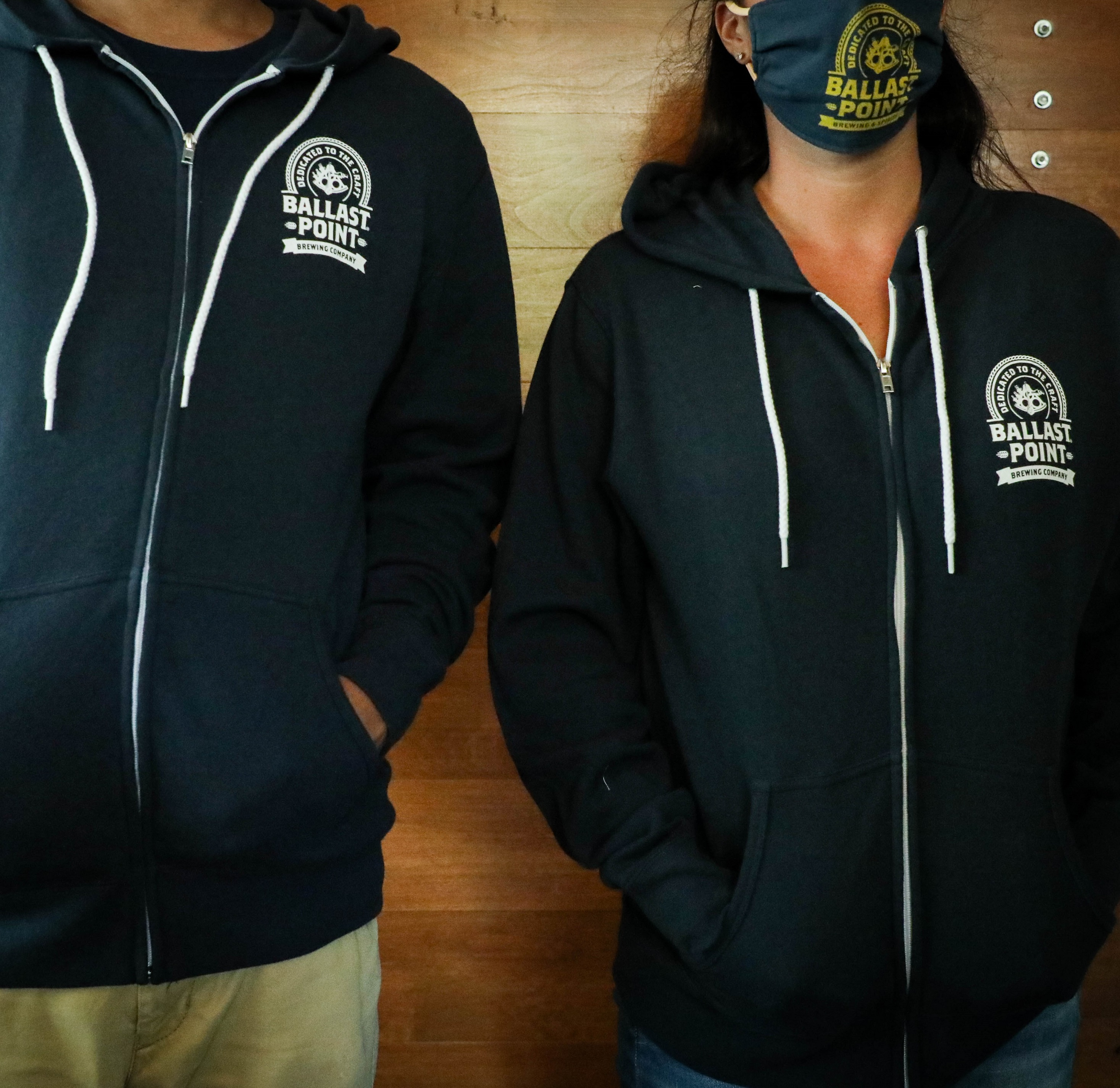 Ballast Point Unisex Badge Zip Up Hoodie THUMBNAIL