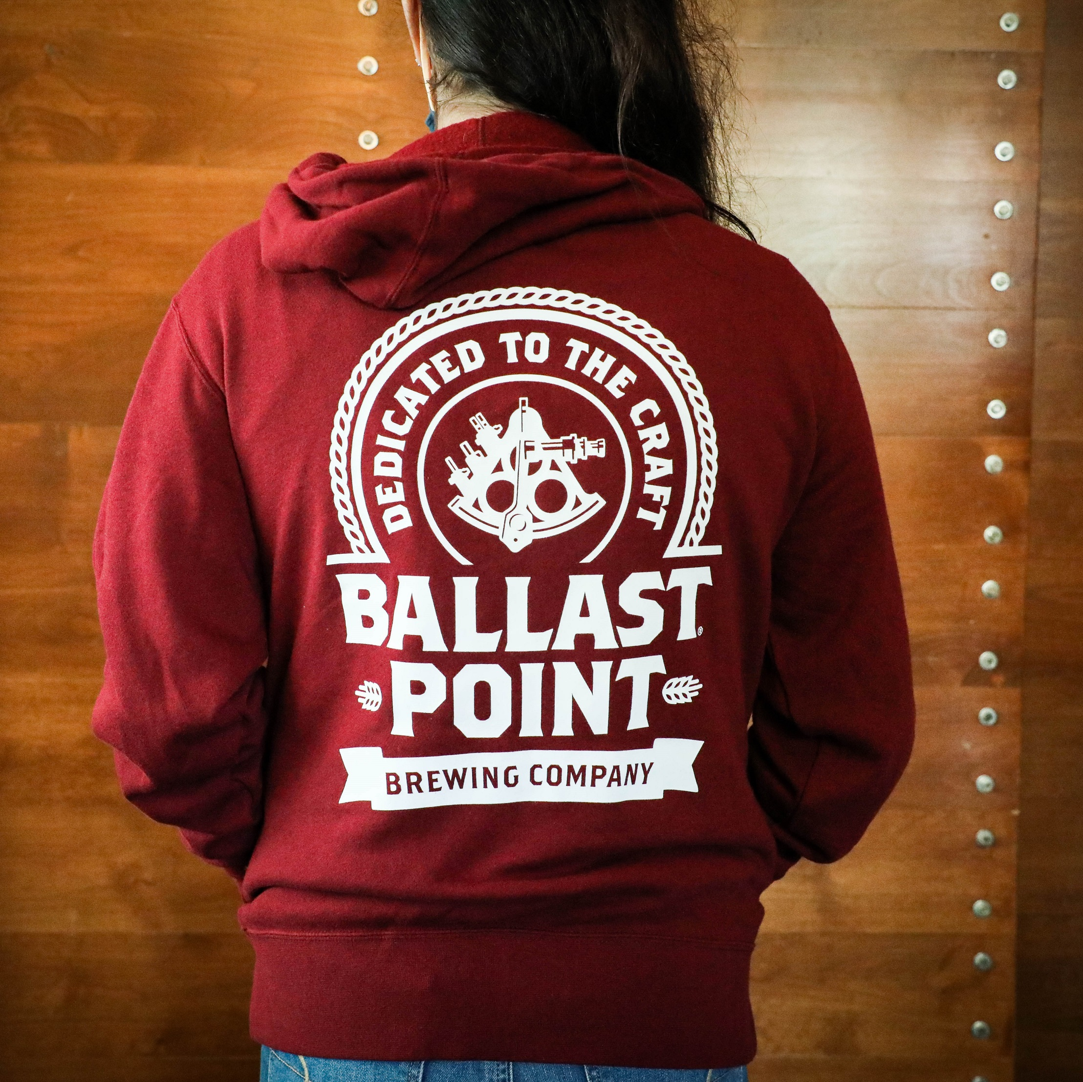 Ballast Point Unisex Badge Zip Up Hoodie SWATCH