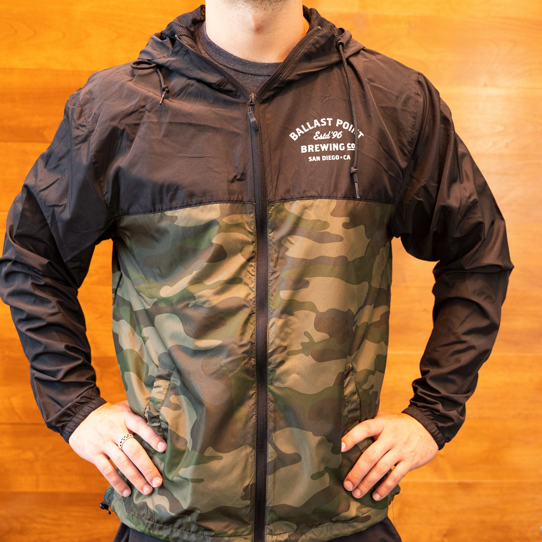 Ballast Point Men's Camo Zip Windbreaker THUMBNAIL