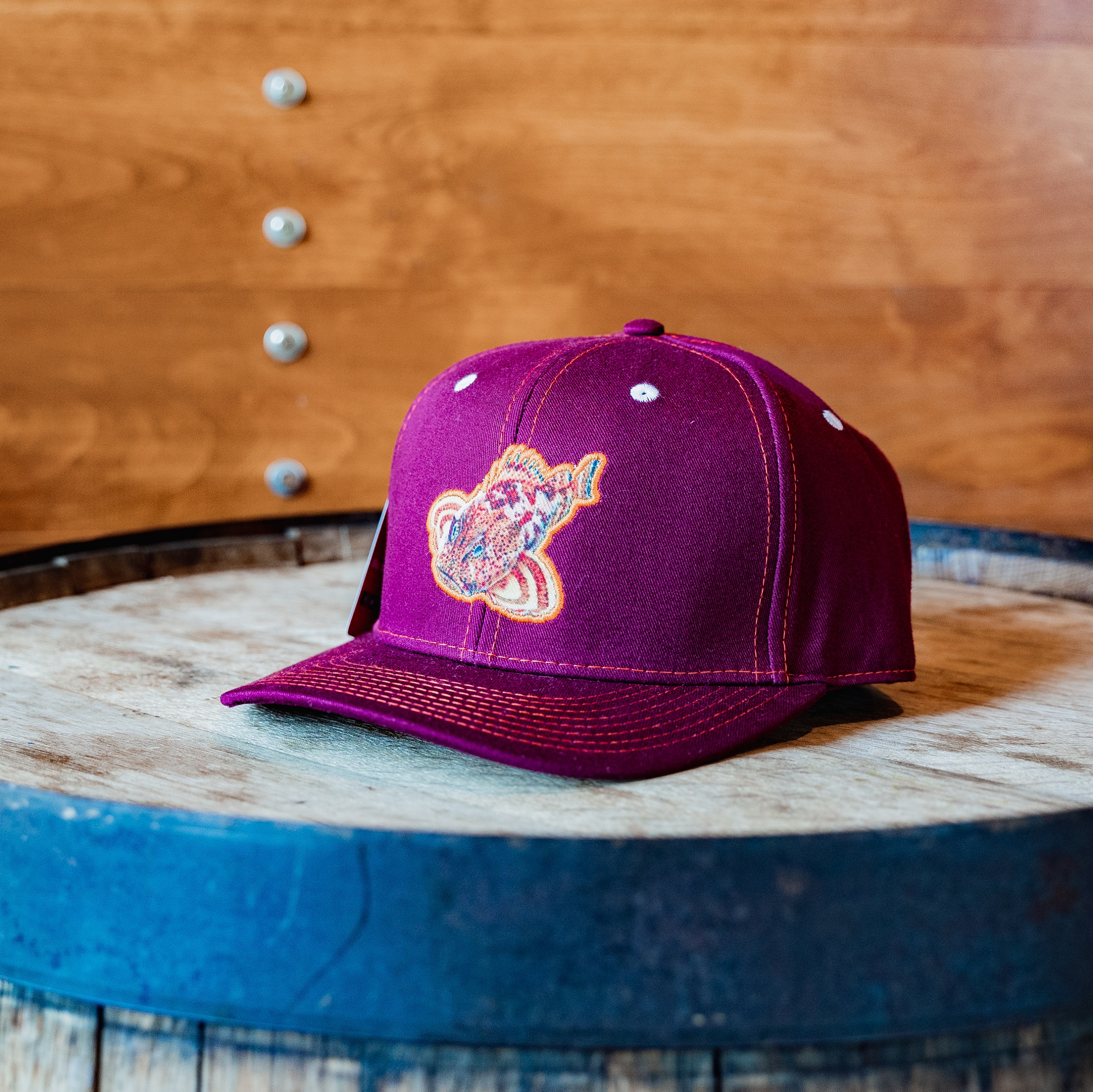 Sculpin Patch Maroon Snapback THUMBNAIL
