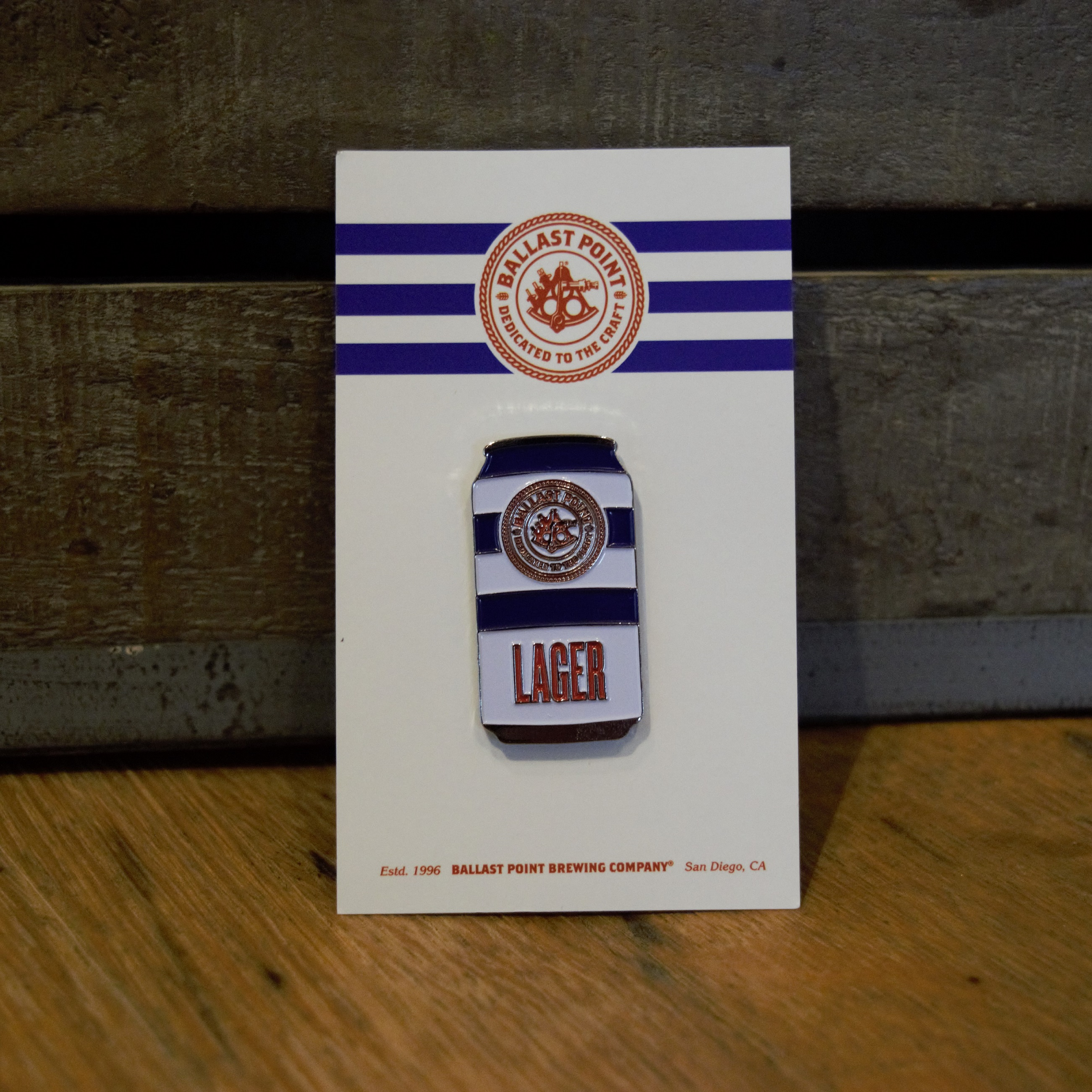 Lapel Pin Can - BP Lager SWATCH
