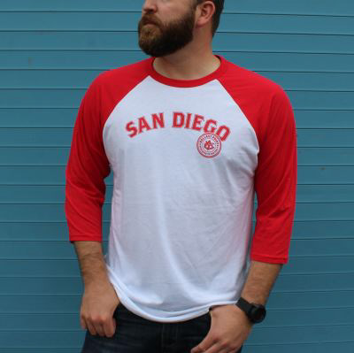Ballast Point Men's ¾ Sculpin Baseball Tee