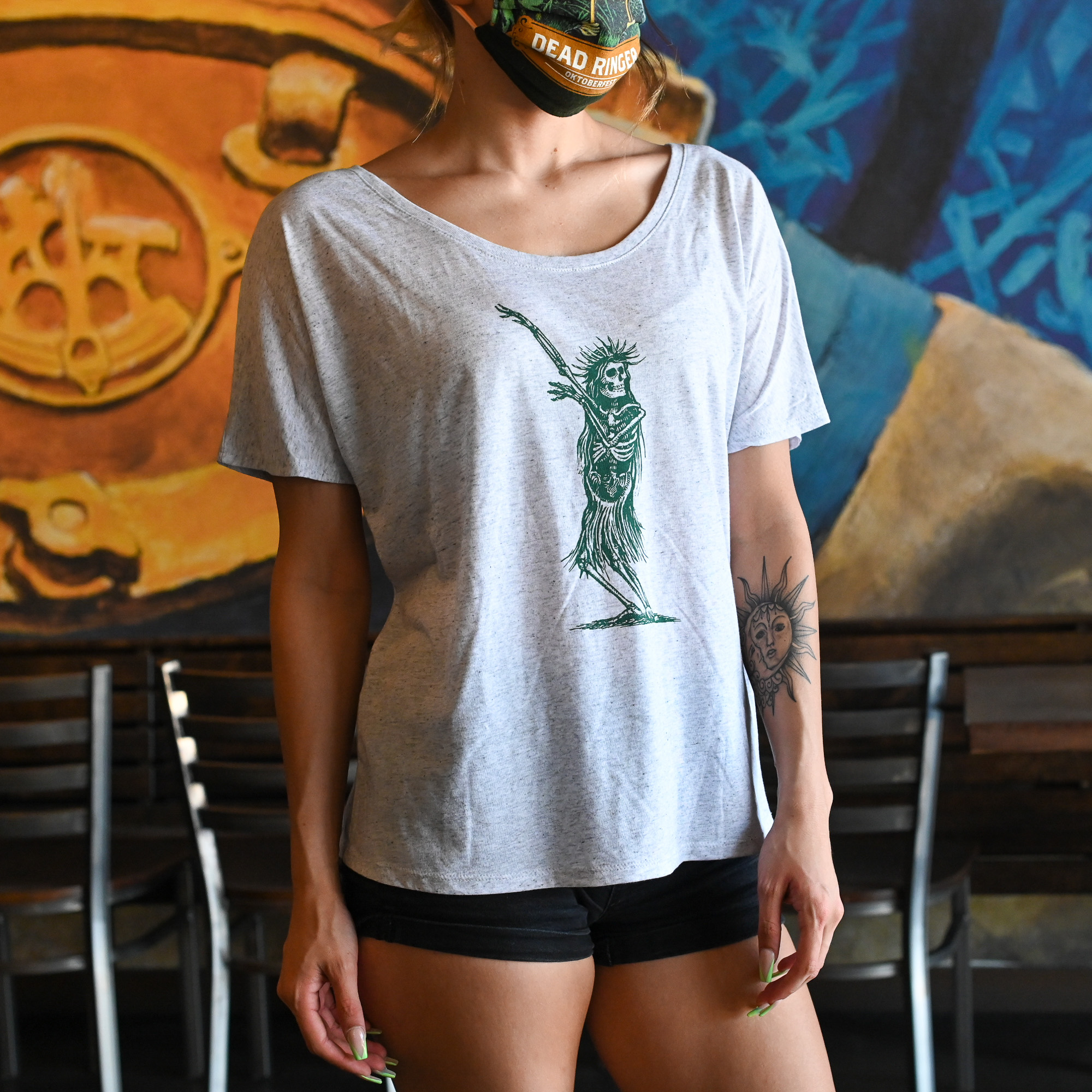 Women's Hula Skeleton Tee THUMBNAIL