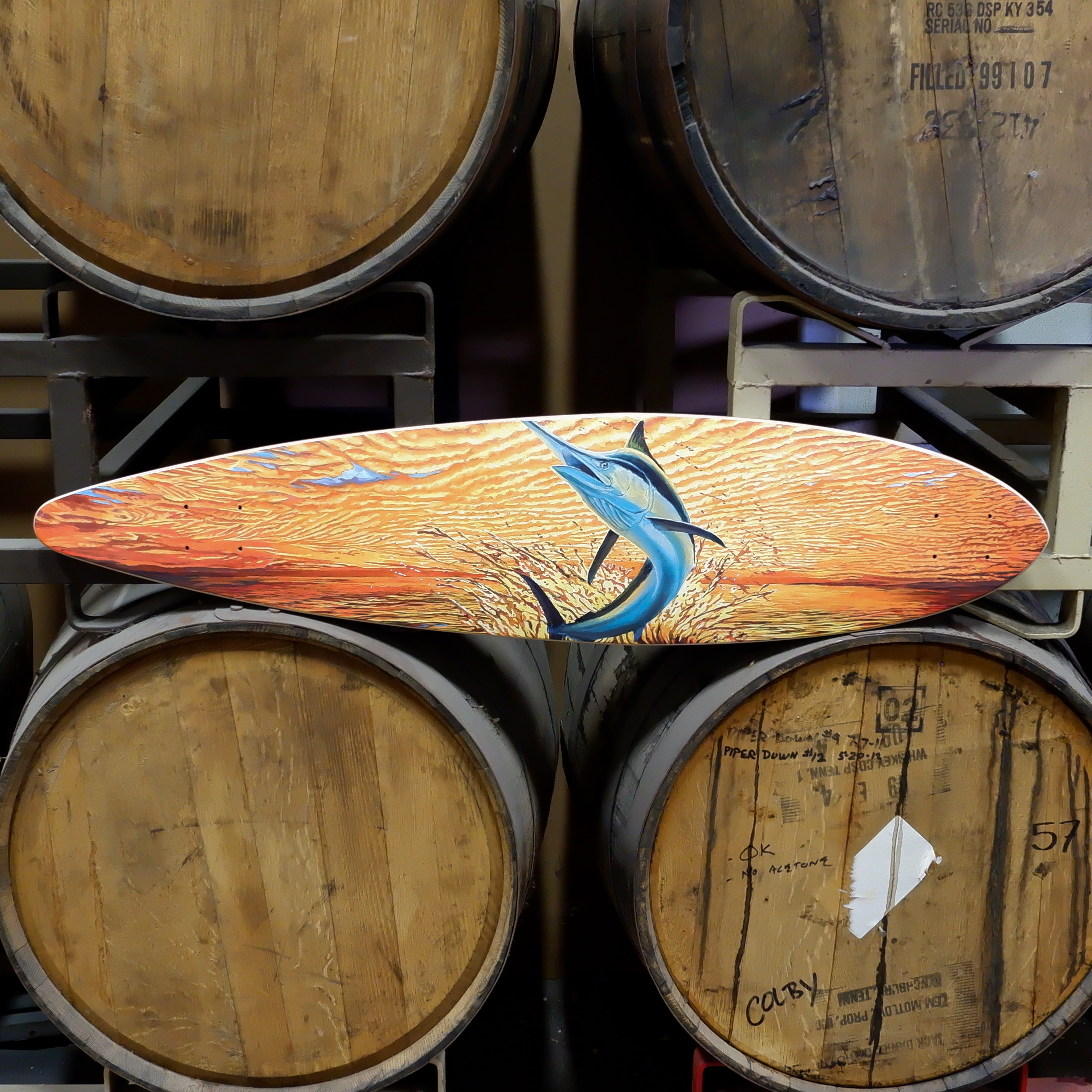 Sector 9 Black Marlin Skateboard Deck THUMBNAIL