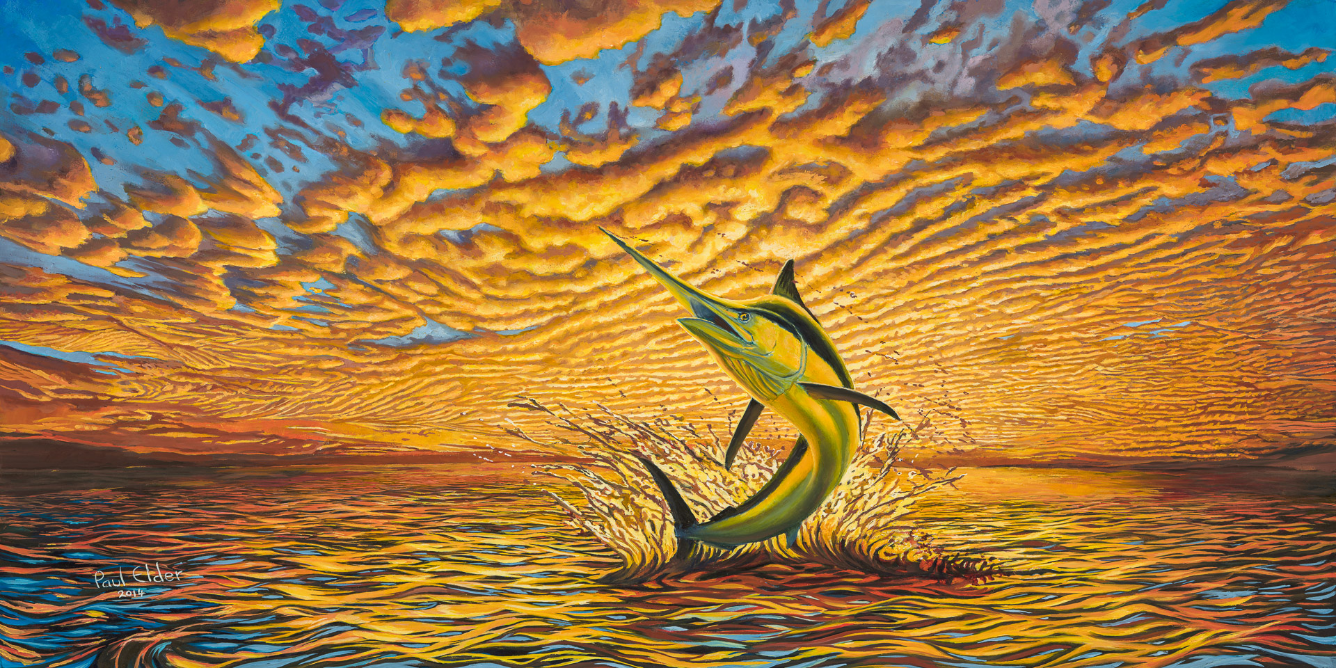 Art Print - Black Marlin THUMBNAIL