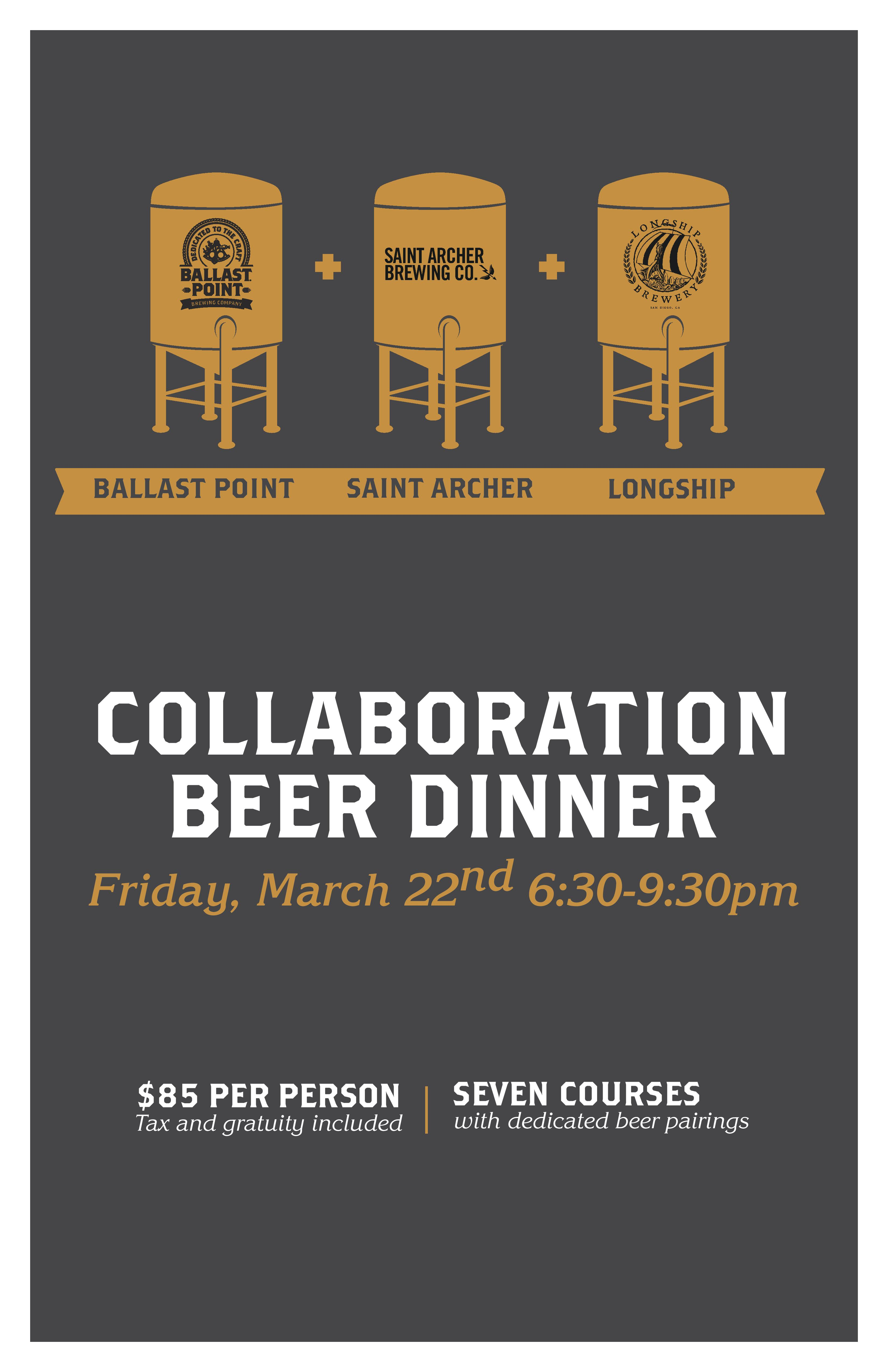Collaboration Beer Dinner - BP Miramar