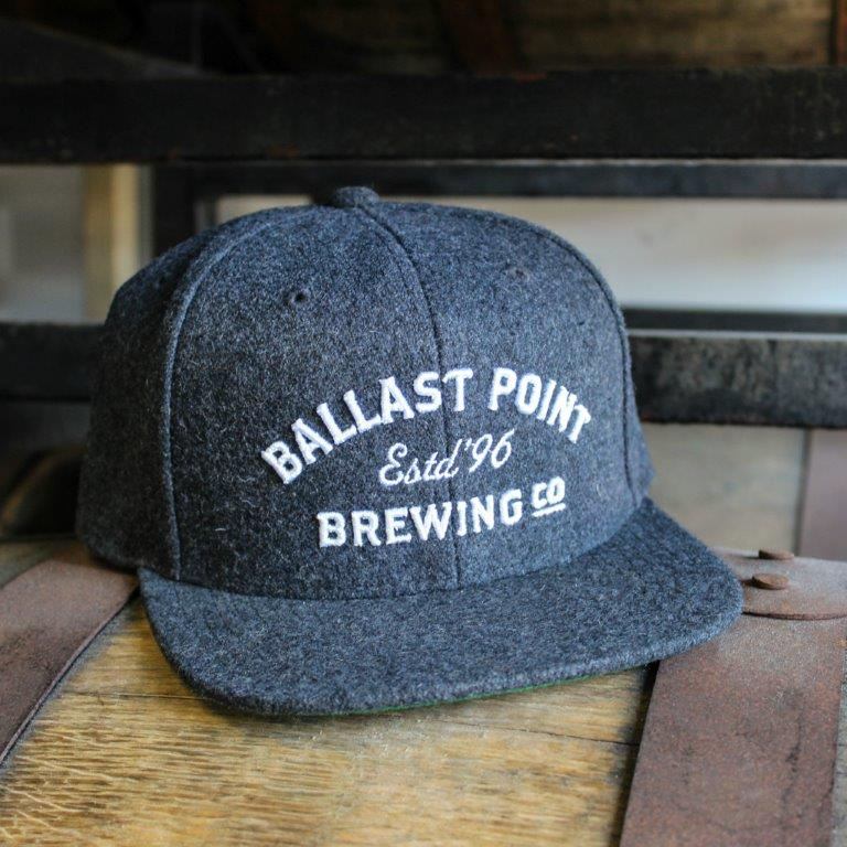 "Ballast Point Dark Grey ""Estd. '96"" Snapback_LARGE"