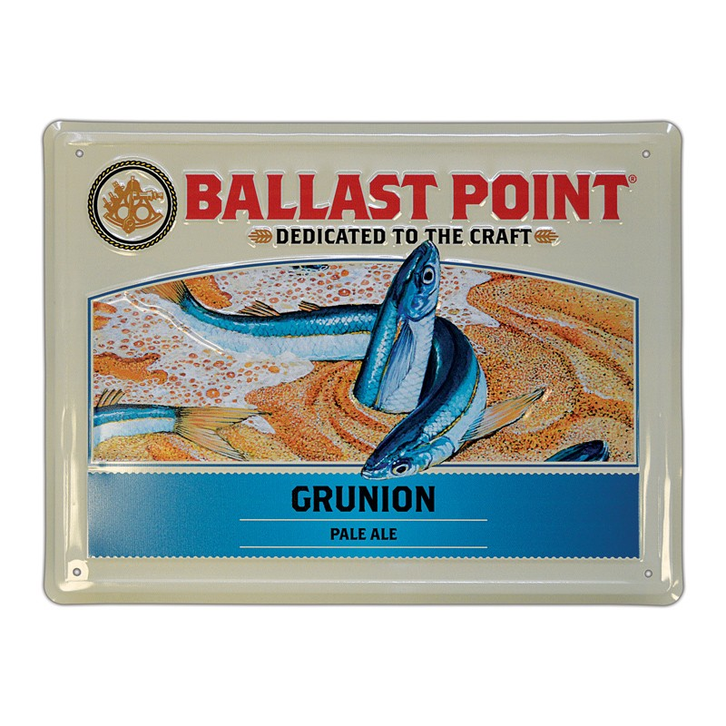 Grunion Tin Sign LARGE