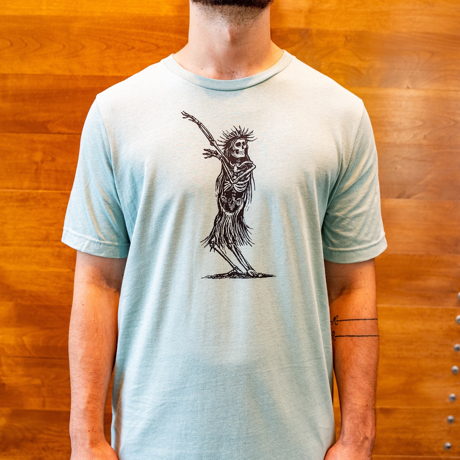 Paul Elder Sketch Tee Hula Skeleton THUMBNAIL