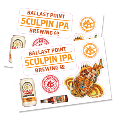 Ballast Point Kiss Cut Stickers