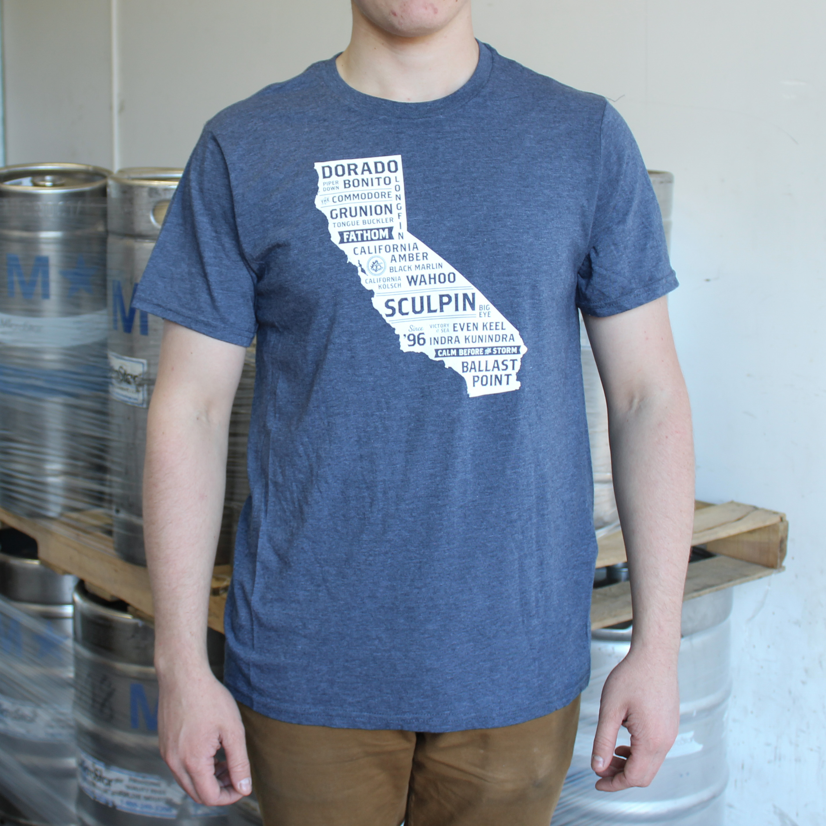 Mens California Tee - Navy LARGE