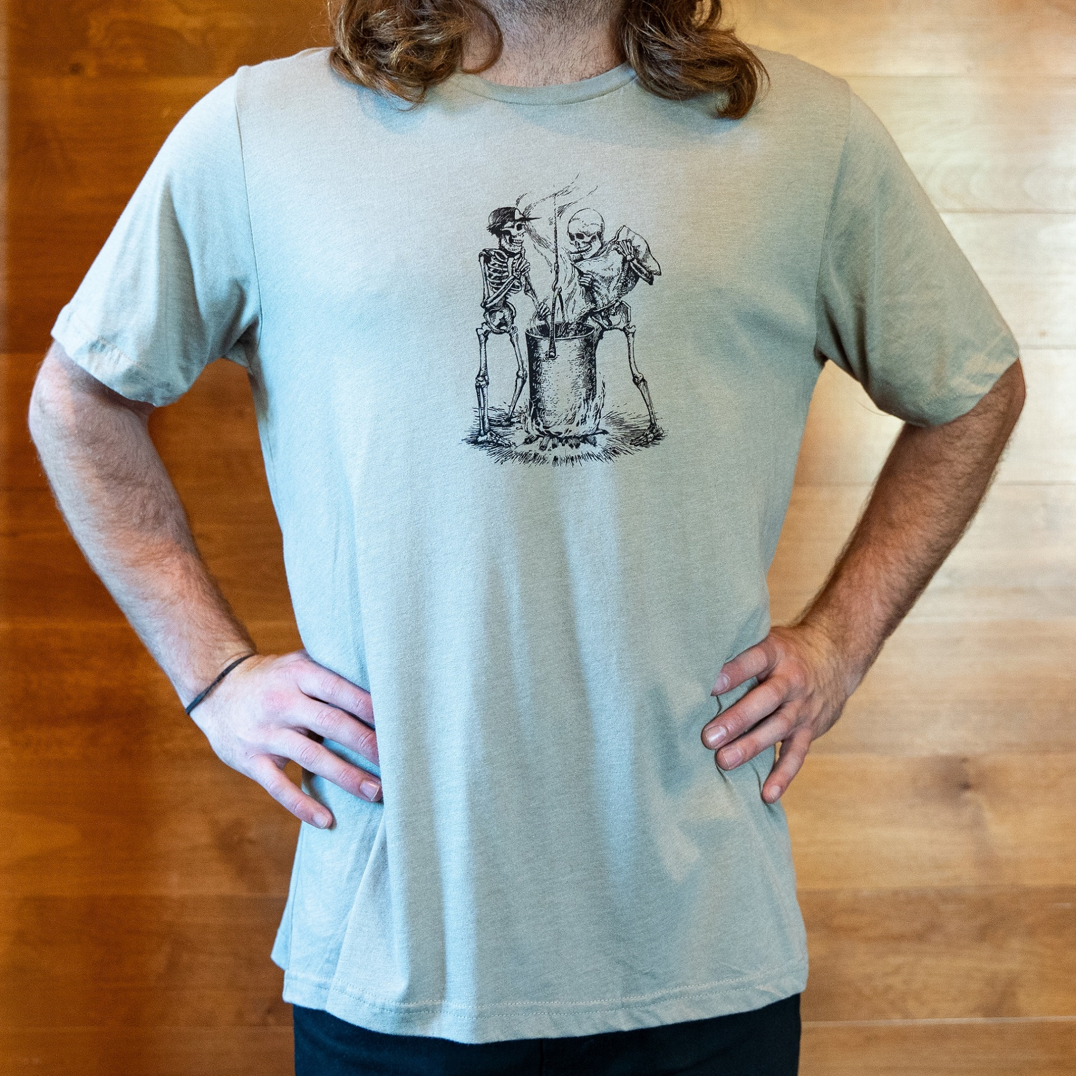 Paul Elder Sketch Tee Brewing Skeletons THUMBNAIL