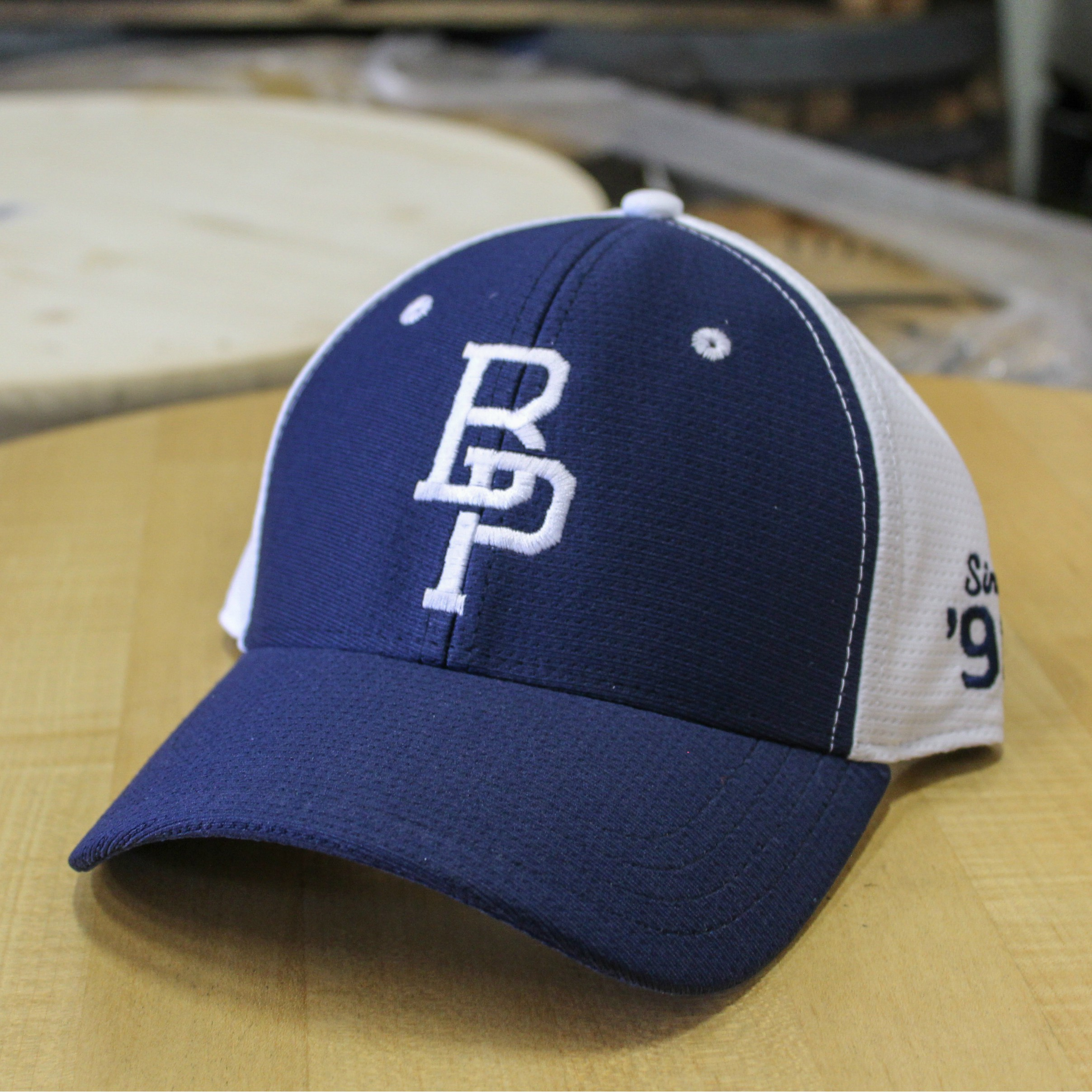 BP Navy and White Snapback
