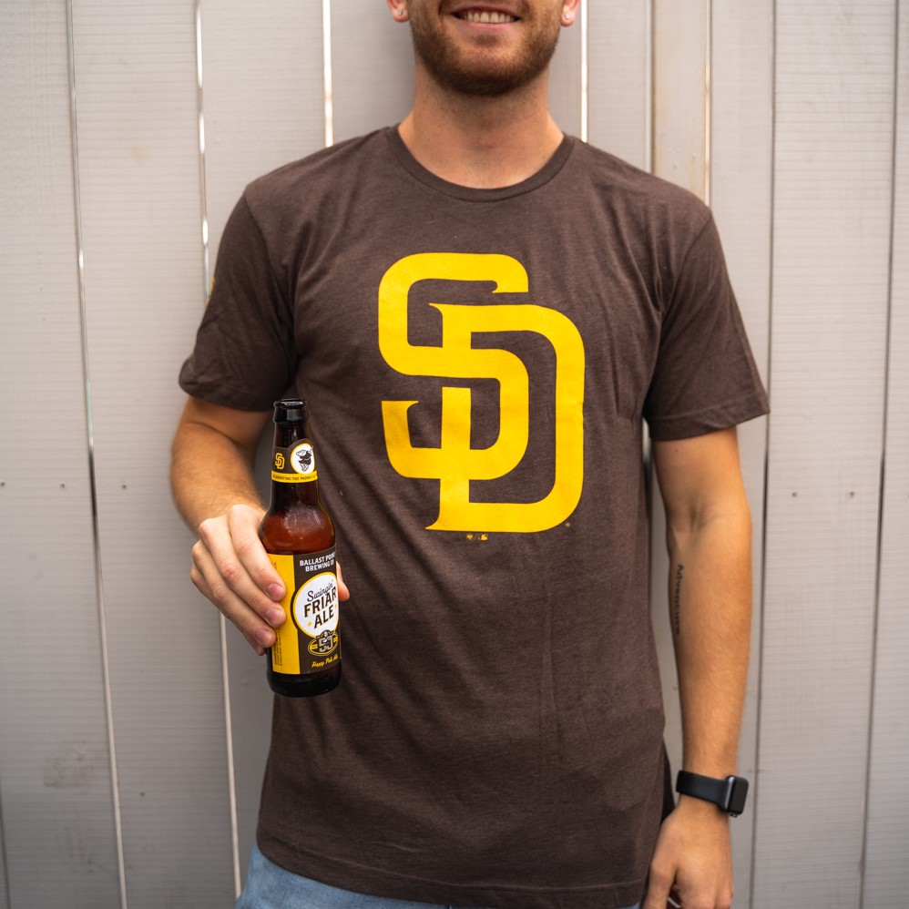 Swingin' Friar SD & BP tee Brown LARGE