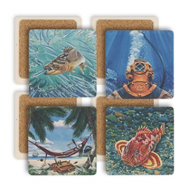 Ballast Point Sandstone Coaster Set LARGE