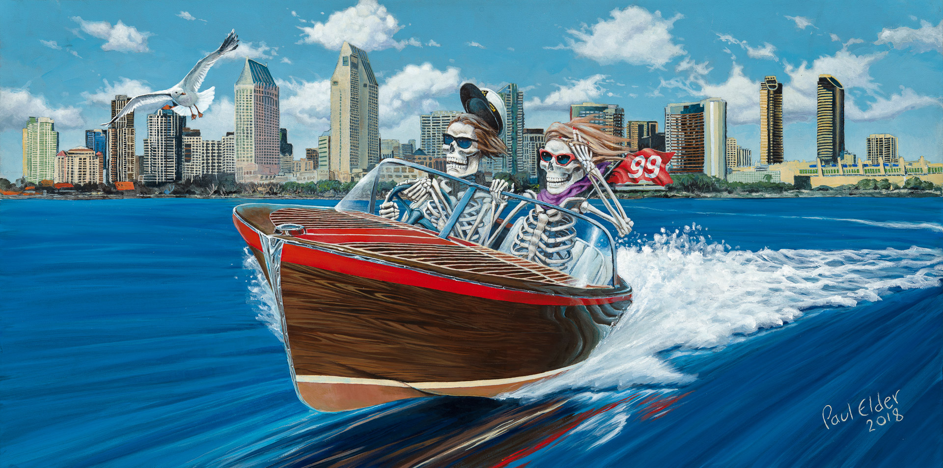 Art Print - Speed Boat LARGE