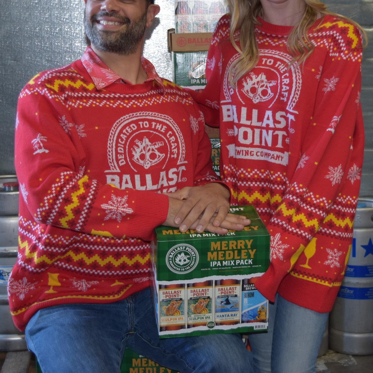 Ballast Point Ugly Sweater LARGE