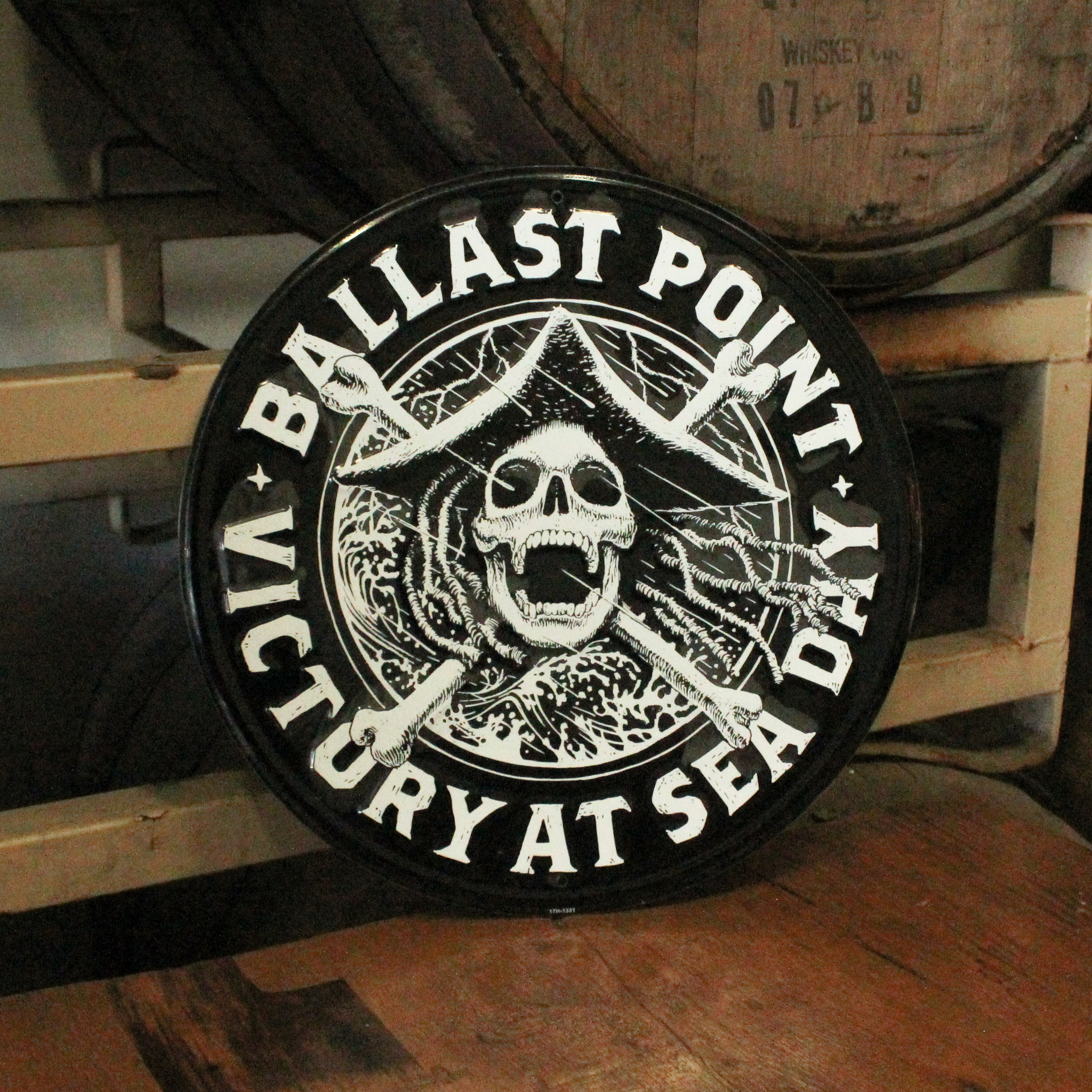 Ballast Point Victory at Sea Round Sign LARGE