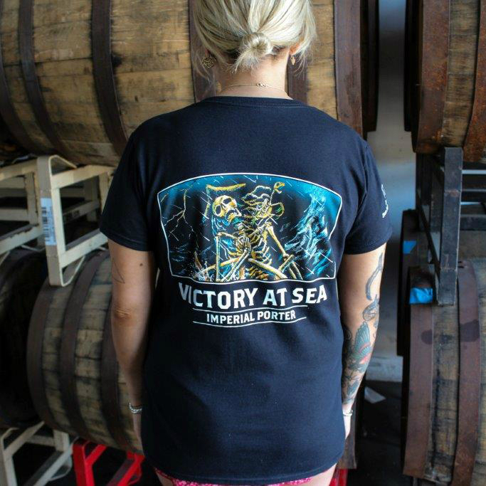 Victory at Sea Women's Black T-Shirt THUMBNAIL