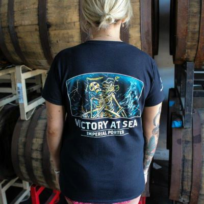 Victory at Sea Women's Black T-Shirt