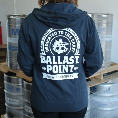 Ballast Point Unisex Badge Zip Up Hoodie