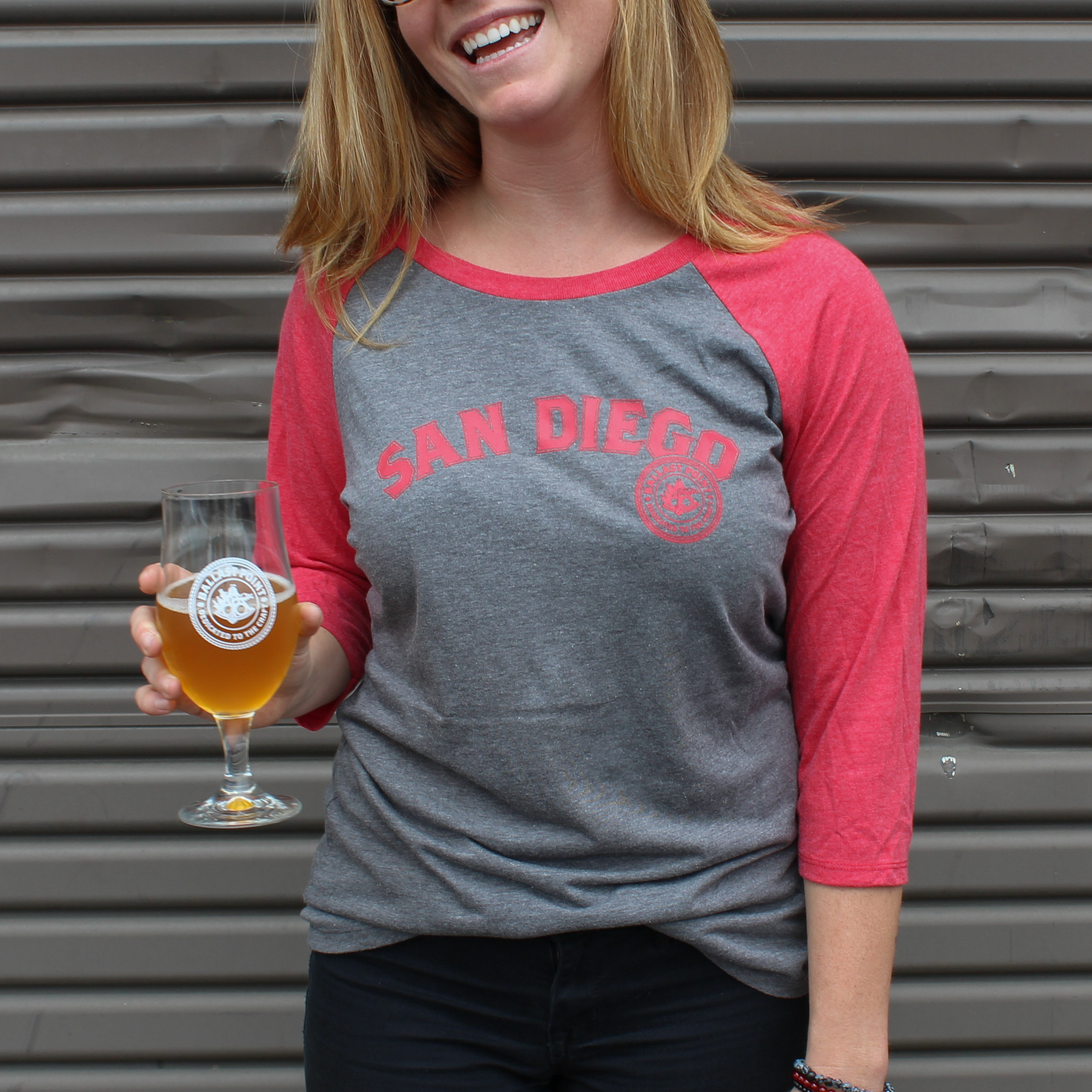 Ballast Point Women's ¾ Sculpin Baseball Tee THUMBNAIL