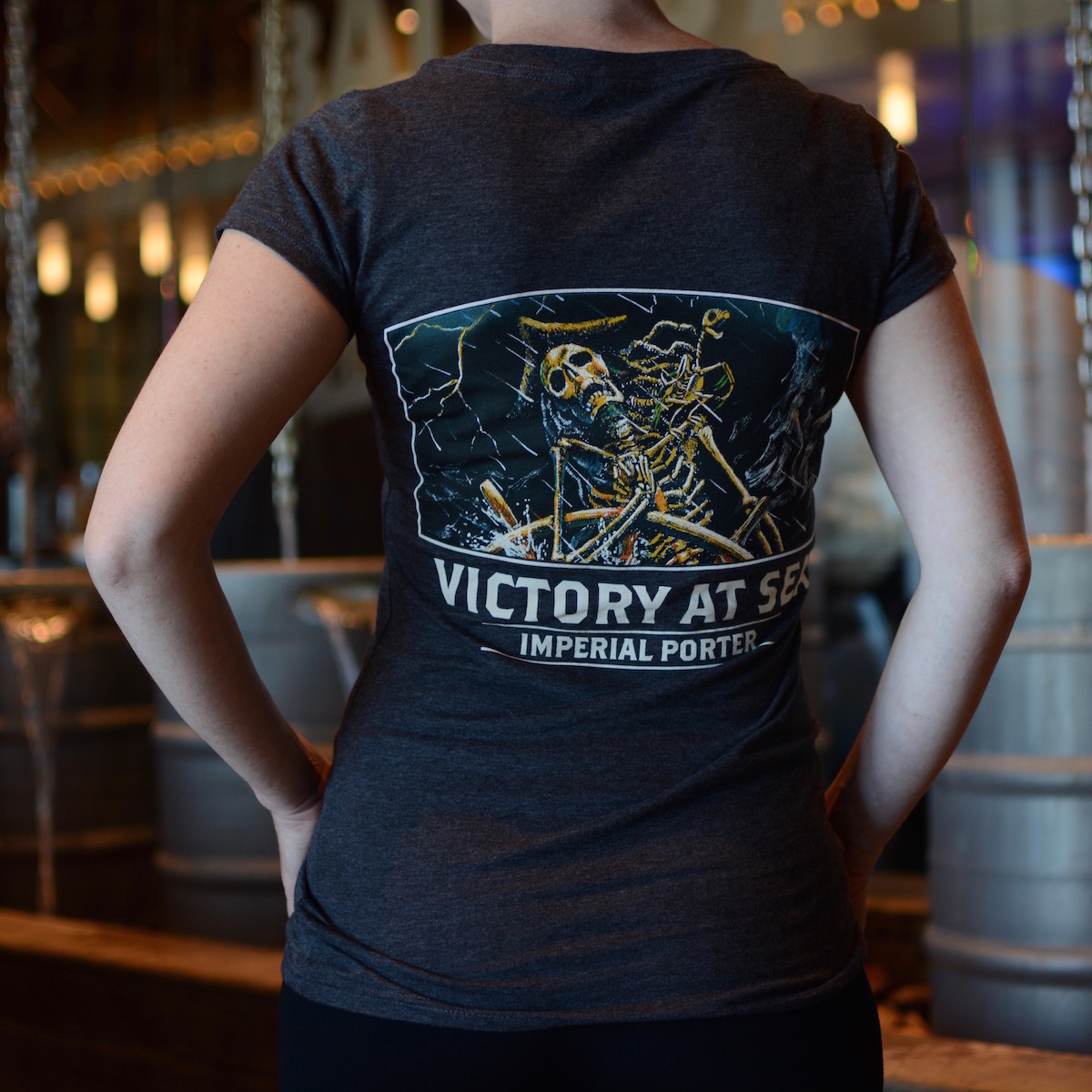 Victory at Sea Women's T-Shirt Dark Grey THUMBNAIL