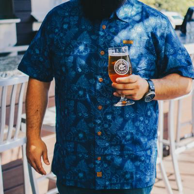 Ballast Point Aloha Button-Up LARGE