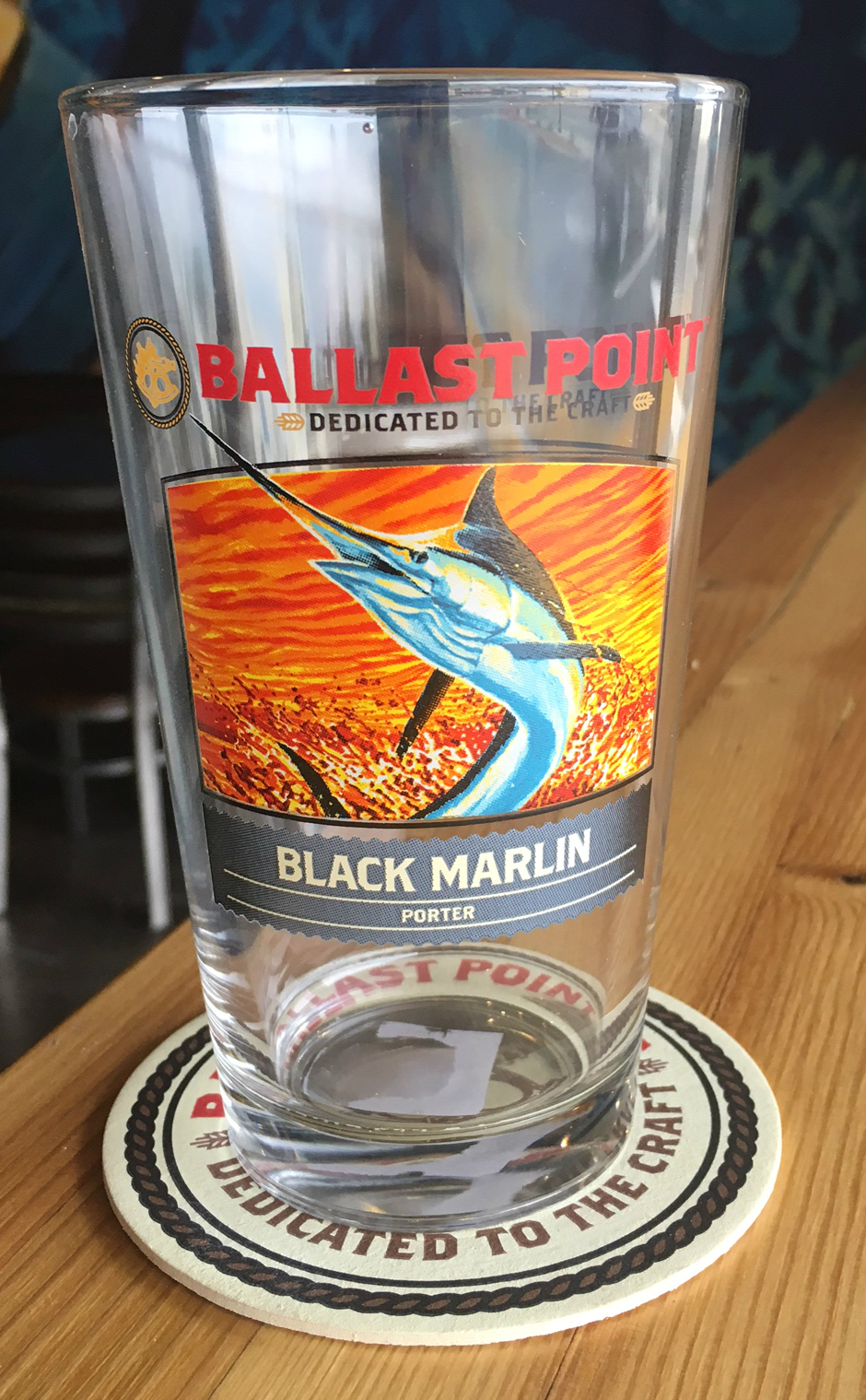 Black Marlin Porter Pint Glass