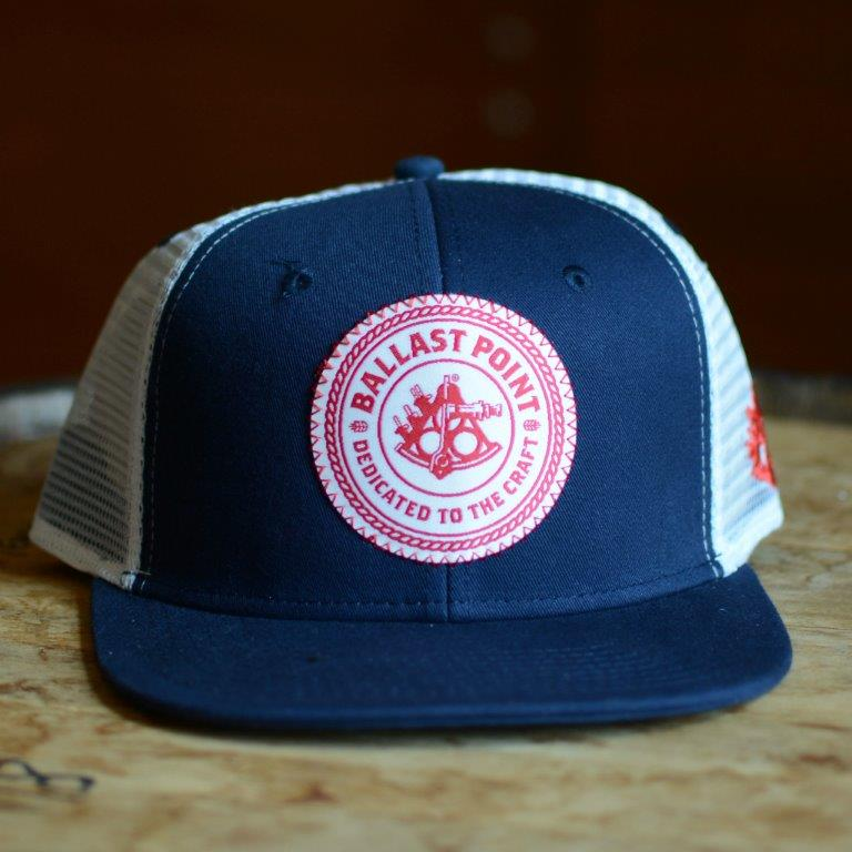 Ballast Point Blue and Red Trucker Hat THUMBNAIL