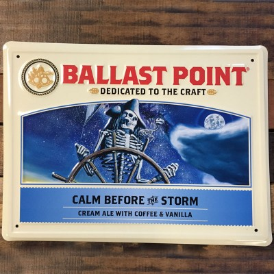 Calm Before the Storm Tin Sign
