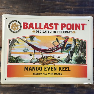 Mango Even Keel Tin Sign