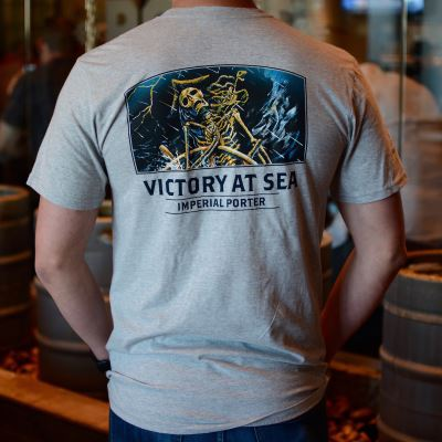 Victory At Sea Men's Grey T-Shirt
