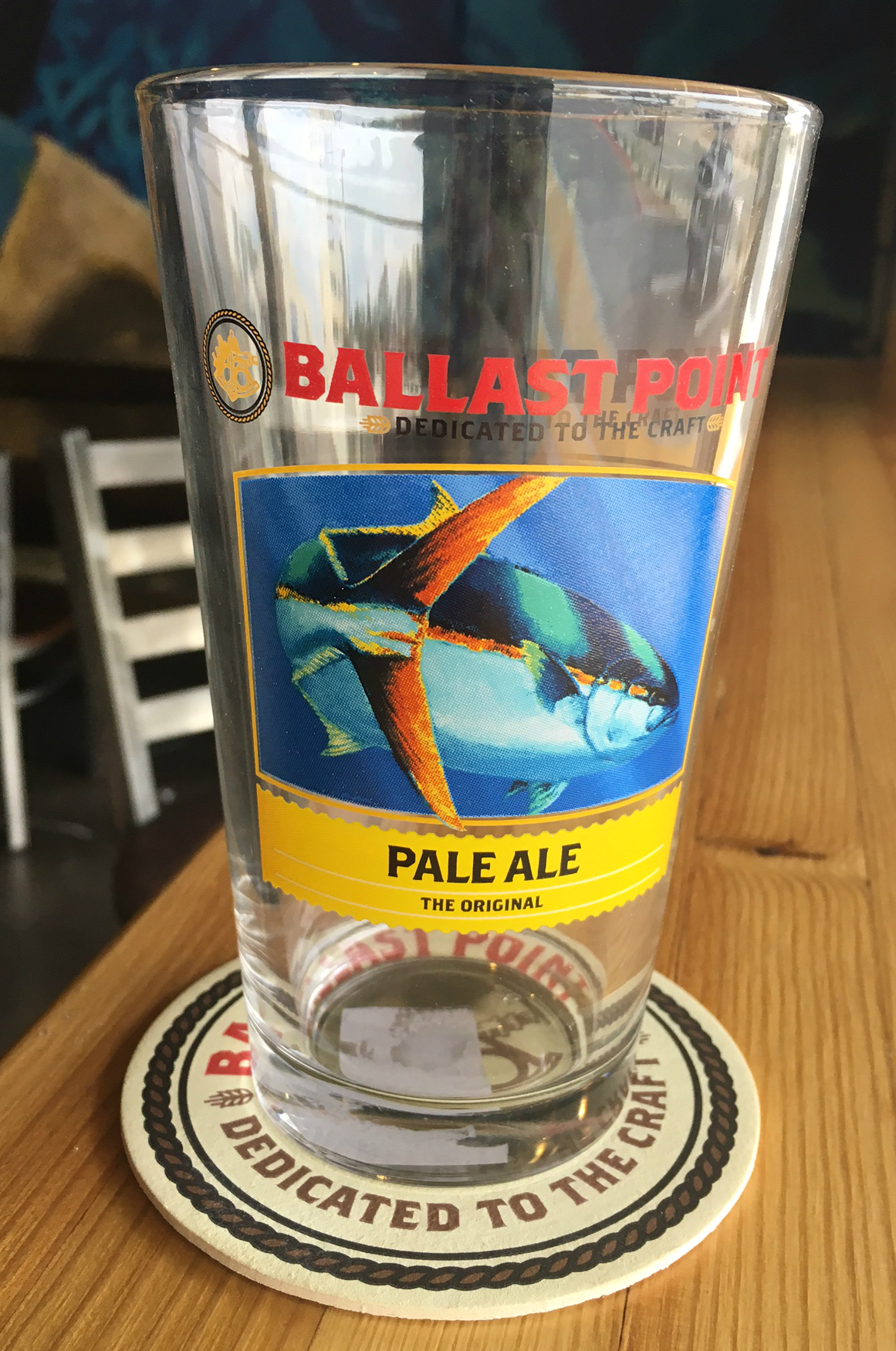 Ballast Point Pale Ale Pint Glass THUMBNAIL