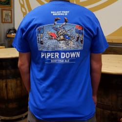 Piper Down Scottish Highland Games T-Shirt THUMBNAIL