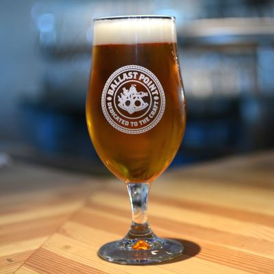 Ballast Point Tulip Glass