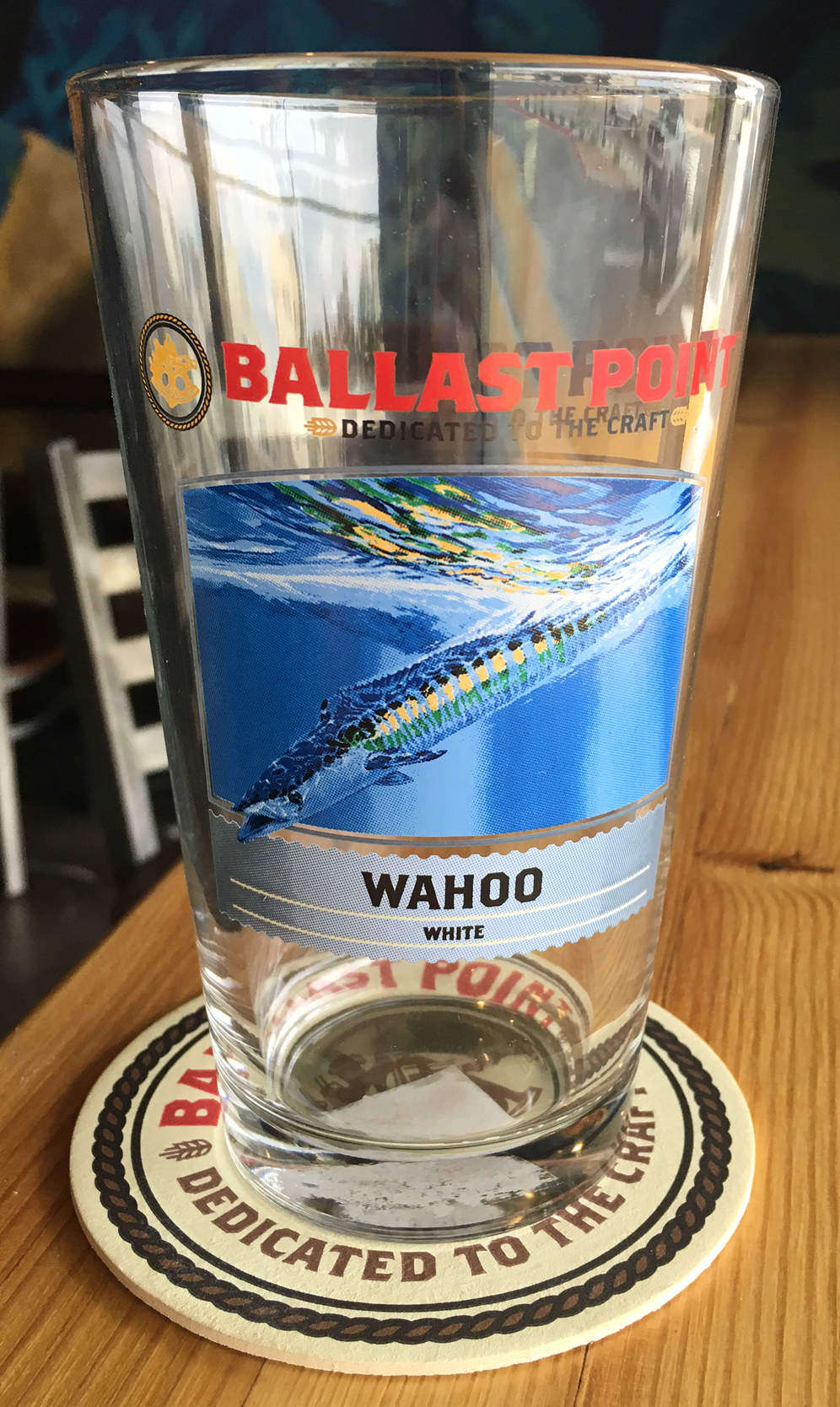 Wahoo Wheat Beer Pint Glass THUMBNAIL