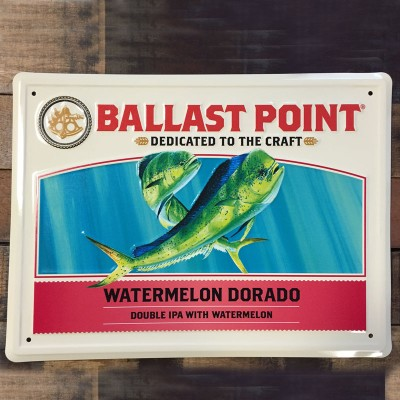Watermelon Dorado Tin Sign