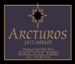 Arcturos Merlot red wine label