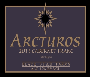 Arcturos Cabernet Franc red wine label