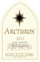2015 Arcturos Late Harvest Riesling white wine label