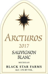 2017 Arcturos Sauvignon Blanc white wine label LARGE