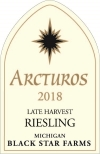 2018 Arcturos Late Harvest Riesling white wine label THUMBNAIL