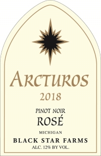 Arcturos Pinot Noir rose wine label LARGE