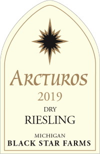 2019 Arctus Dry Riesling white wine label LARGE
