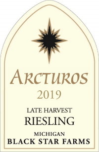 2019 Arcturos Late Harvest Riesling white wine label LARGE