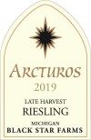 2019 Arcturos Late Harvest Riesling white wine label THUMBNAIL