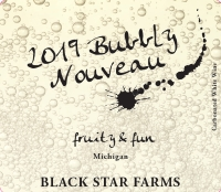 Bubbly Nouveau sparkling wine label LARGE
