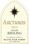 2019 Arcturos Riesling white wine label LARGE